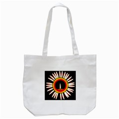 Candle Ring Flower Blossom Bloom Tote Bag (white)