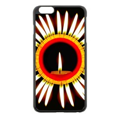 Candle Ring Flower Blossom Bloom Apple iPhone 6 Plus/6S Plus Black Enamel Case