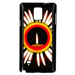 Candle Ring Flower Blossom Bloom Samsung Galaxy Note 4 Case (Black)