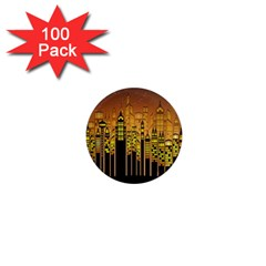 Buildings Skyscrapers City 1  Mini Magnets (100 pack)