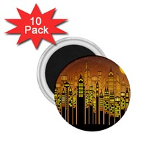 Buildings Skyscrapers City 1.75  Magnets (10 pack)