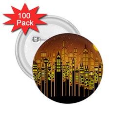 Buildings Skyscrapers City 2.25  Buttons (100 pack)