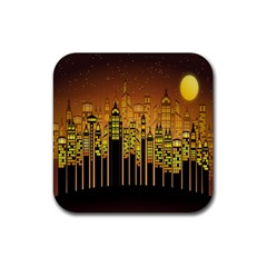 Buildings Skyscrapers City Rubber Square Coaster (4 pack)