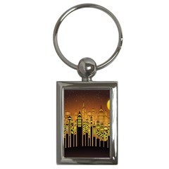 Buildings Skyscrapers City Key Chains (Rectangle)