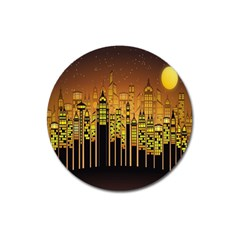 Buildings Skyscrapers City Magnet 3  (Round)
