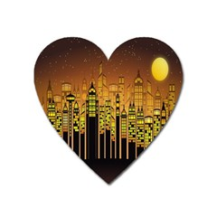 Buildings Skyscrapers City Heart Magnet