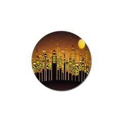 Buildings Skyscrapers City Golf Ball Marker