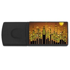 Buildings Skyscrapers City USB Flash Drive Rectangular (2 GB)