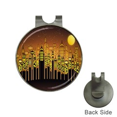 Buildings Skyscrapers City Hat Clips with Golf Markers