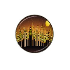 Buildings Skyscrapers City Hat Clip Ball Marker
