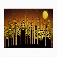 Buildings Skyscrapers City Small Glasses Cloth