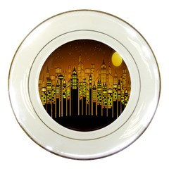Buildings Skyscrapers City Porcelain Plates