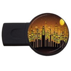 Buildings Skyscrapers City USB Flash Drive Round (4 GB)