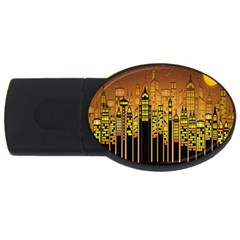 Buildings Skyscrapers City Usb Flash Drive Oval (4 Gb)