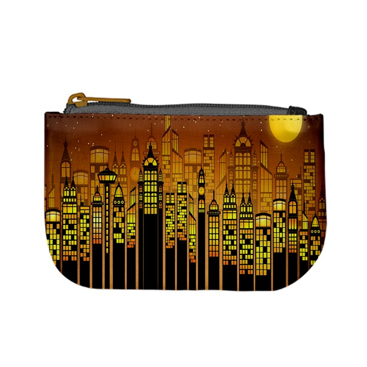 Buildings Skyscrapers City Mini Coin Purses