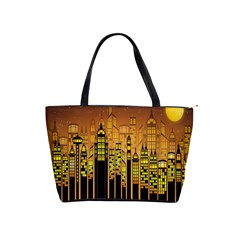 Buildings Skyscrapers City Shoulder Handbags