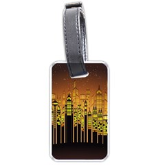 Buildings Skyscrapers City Luggage Tags (One Side)