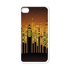 Buildings Skyscrapers City Apple iPhone 4 Case (White)