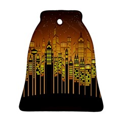 Buildings Skyscrapers City Ornament (Bell)