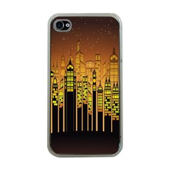 Buildings Skyscrapers City Apple iPhone 4 Case (Clear)