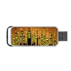 Buildings Skyscrapers City Portable USB Flash (Two Sides)