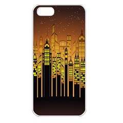 Buildings Skyscrapers City Apple iPhone 5 Seamless Case (White)