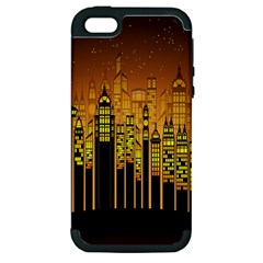Buildings Skyscrapers City Apple iPhone 5 Hardshell Case (PC+Silicone)