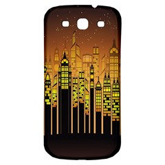 Buildings Skyscrapers City Samsung Galaxy S3 S III Classic Hardshell Back Case