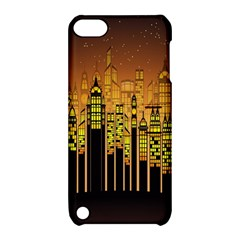 Buildings Skyscrapers City Apple Ipod Touch 5 Hardshell Case With Stand