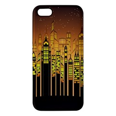 Buildings Skyscrapers City Apple iPhone 5 Premium Hardshell Case