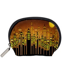 Buildings Skyscrapers City Accessory Pouches (Small)
