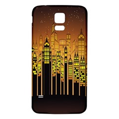 Buildings Skyscrapers City Samsung Galaxy S5 Back Case (White)