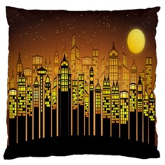 Buildings Skyscrapers City Large Flano Cushion Case (Two Sides)