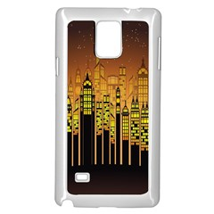 Buildings Skyscrapers City Samsung Galaxy Note 4 Case (White)