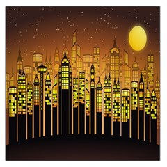 Buildings Skyscrapers City Large Satin Scarf (Square)