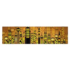 Buildings Skyscrapers City Satin Scarf (Oblong)