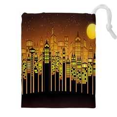 Buildings Skyscrapers City Drawstring Pouches (XXL)
