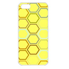Bee Hive Pattern Apple iPhone 5 Seamless Case (White)