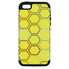 Bee Hive Pattern Apple iPhone 5 Hardshell Case (PC+Silicone)