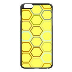 Bee Hive Pattern Apple Iphone 6 Plus/6s Plus Black Enamel Case