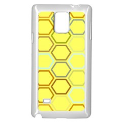Bee Hive Pattern Samsung Galaxy Note 4 Case (white)