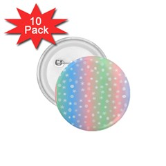 Christmas Happy Holidays Snowflakes 1.75  Buttons (10 pack)