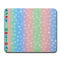 Christmas Happy Holidays Snowflakes Large Mousepads