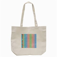Christmas Happy Holidays Snowflakes Tote Bag (Cream)