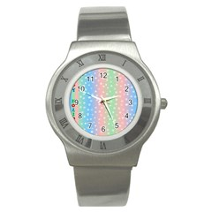 Christmas Happy Holidays Snowflakes Stainless Steel Watch