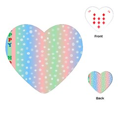 Christmas Happy Holidays Snowflakes Playing Cards (Heart)