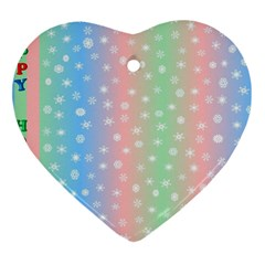 Christmas Happy Holidays Snowflakes Heart Ornament (Two Sides)