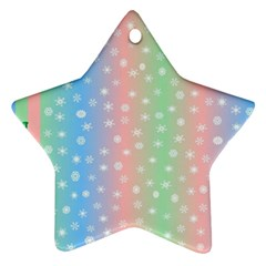 Christmas Happy Holidays Snowflakes Star Ornament (two Sides)
