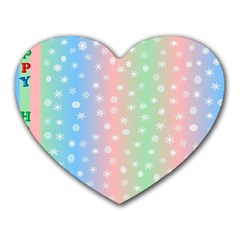 Christmas Happy Holidays Snowflakes Heart Mousepads