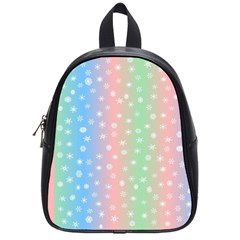 Christmas Happy Holidays Snowflakes School Bags (Small)